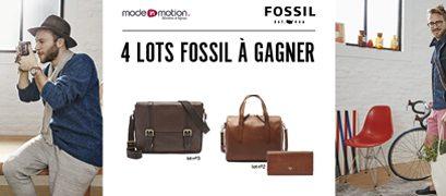 Tentez votre chance et gagnez peut-être l'un des 4 lots de maroquinerie Fossil