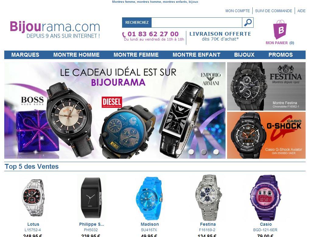 Notre site, Bijourama.com