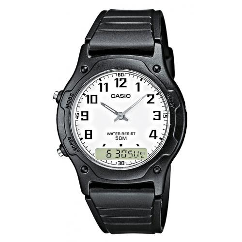 Casio - Montre Casio Collection AW-49H-7BVEF - Montre Noire Homme