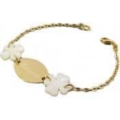 Bracelet Chaîne Dorée Mes petits trèfles blancs - Les bijoux de Pauline et Victoria