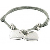 Bracelet Cordon Mes deux Cœurs - Les bijoux de Pauline et Victoria