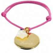 Bracelet Cordon Mon Rond Doré - Les bijoux de Pauline et Victoria