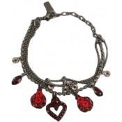 Bracelet La Scala breloques rouge - Satellite