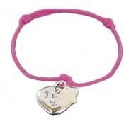 Bracelet cordon mon coeur étoilé - Les bijoux de Pauline et Victoria