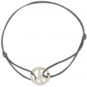 Bracelet cordon peace and love - Les bijoux de Pauline et Victoria