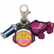 Porte clé Smiley Pixel roller  - N2