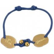 Bracelet Cordon Mes 2 Amours Perles - Les bijoux de Pauline et Victoria
