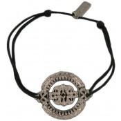 Bracelet cordon noir MEDAILLE - Satellite
