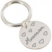 Porte-clé rond pour Maman - Les bijoux de Pauline et Victoria