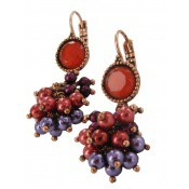 Boucles d'oreilles Love Cat Perles Rouges - Satellite