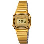 Montre Casio  Alarme Chrono Dorée LA670WEGA-9EF