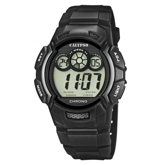 montre calypso montre chronographe digitale noire homme k5592 5. Black Bedroom Furniture Sets. Home Design Ideas