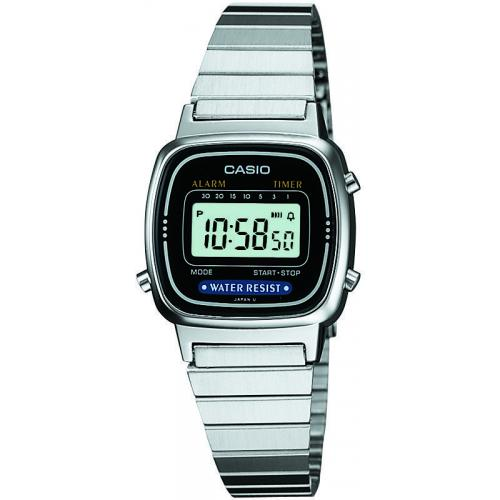 Casio - Montre Casio Retro Vintage LA670WEA-1EF - Montre Rectangulaire