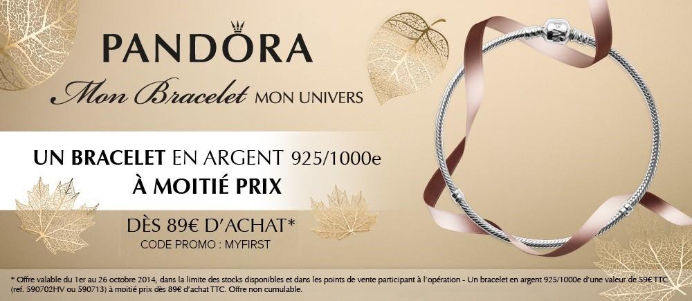MY FIRST PANDORA -50% bracelet argent