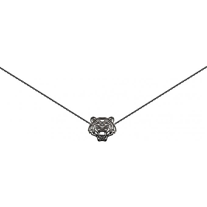 Collier Kenzo 70175263308043 - Collier Chaine Noir Femme