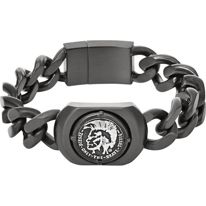 Bracelet Diesel DX0908060 , Bracelet Acier Gunmetal Homme