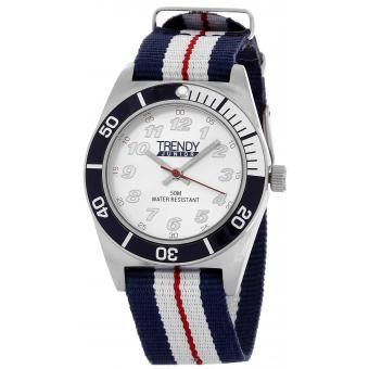 Montre Trendy Junior KL351 - Montre Nylon Bleue Enfant