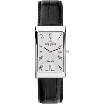 Montre Michel Herbelin 1162-01 - Montre Rectangulaire Cuir Femme