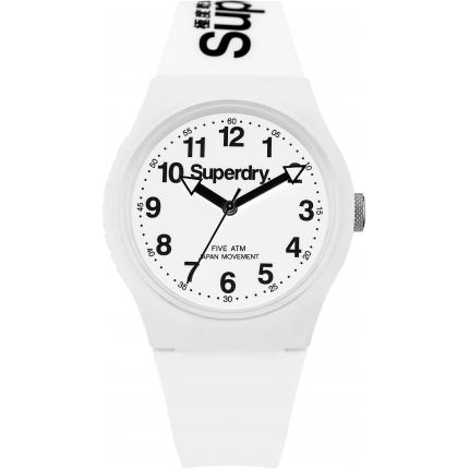 Montre Superdry SYG164WW - Montre Ronde Blanche Mixte