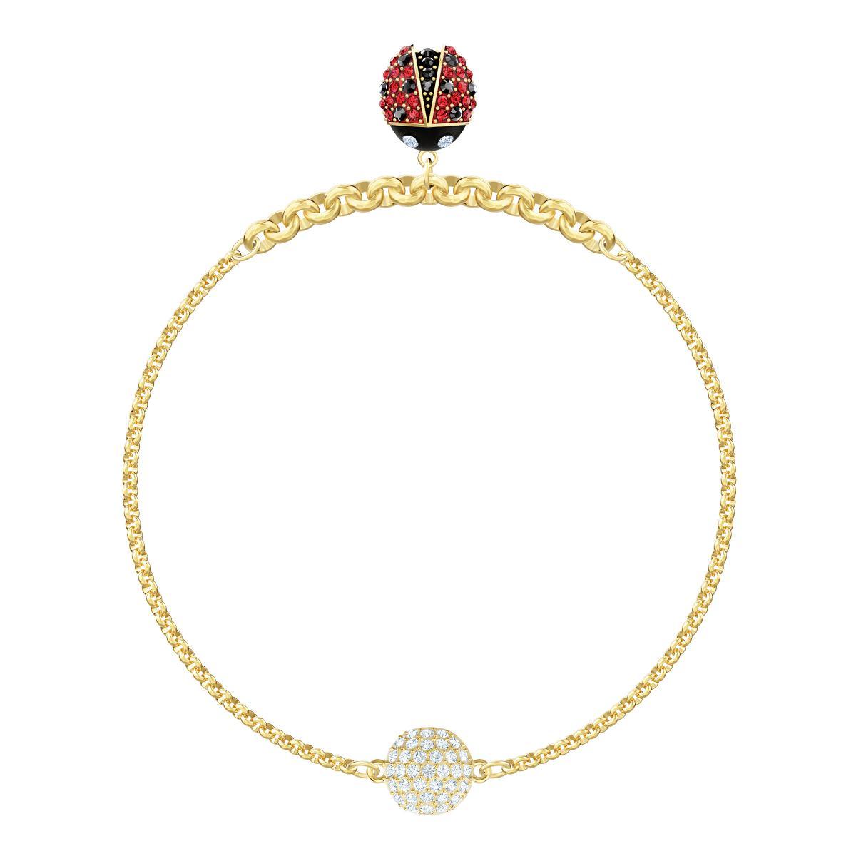 Bracelet Swarovski - Bracelet Doré Coccinelle Femme
