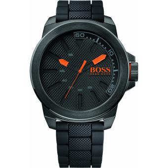Montre BOSS ORANGE NEW YORK 1513004 - Montre Silicone Noire Homme