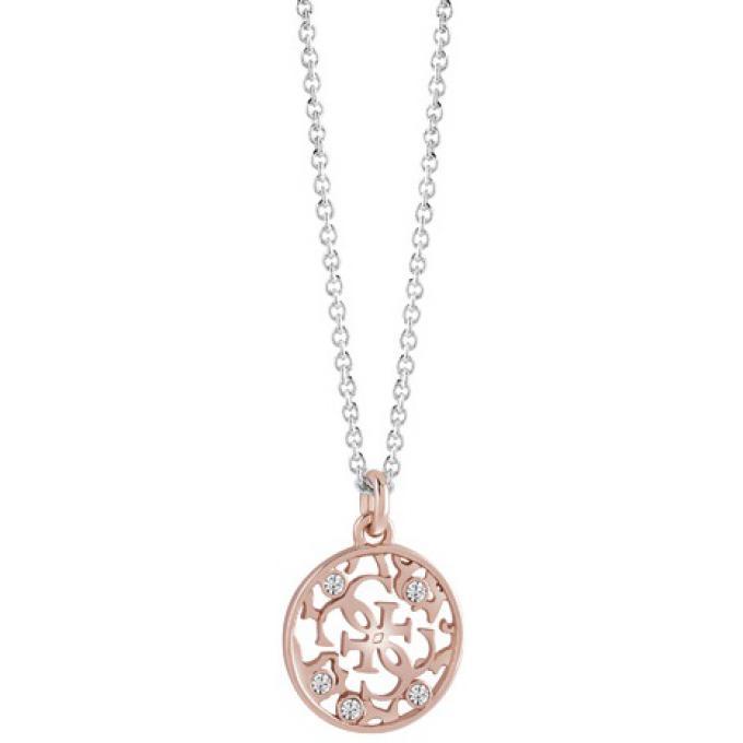 collier femme or rose