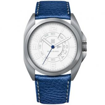 Montre Serge Blanco Full Black SB1200-9 - Montre Cuir Bleue Homme