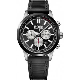 Montre BOSS RACING 1513186 - Montre Chronographe Silicone Homme