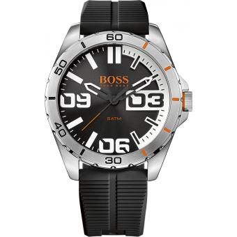 Montre Boss Orange 1513285 - Montre Silicone Ronde Homme