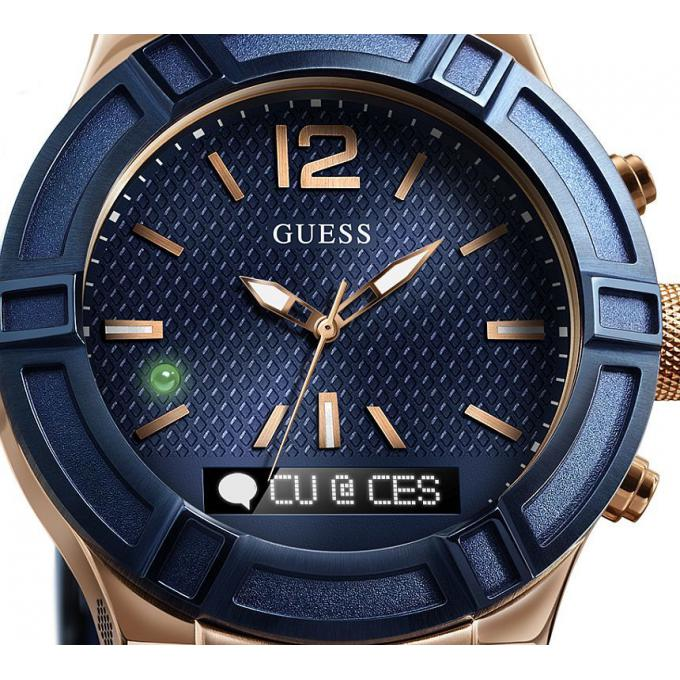 montre guess connect c0002m1 montre connect e bleue femme sur bijourama montre femme pas. Black Bedroom Furniture Sets. Home Design Ideas