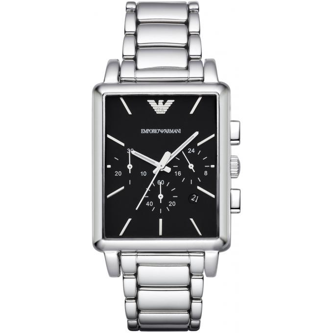 Montre emporio armani ar1850 montre argent rectangulaire - Montre emporio armani homme pas cher ...