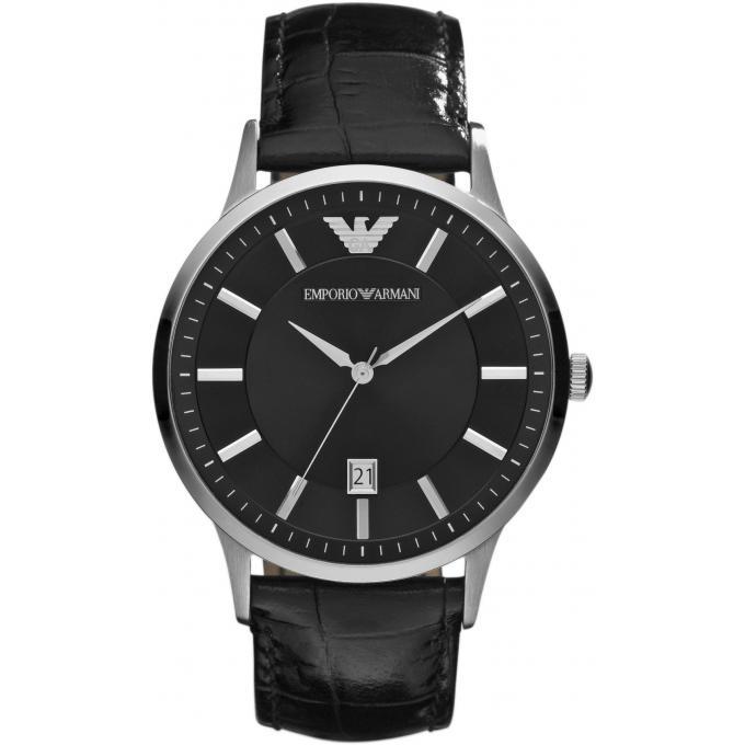 Montre emporio armani ar2411 montre noire cuir homme sur - Montre emporio armani homme pas cher ...