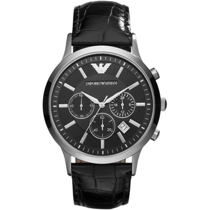 Montre emporio armani ar2447 montre ronde noire homme - Montre emporio armani homme pas cher ...