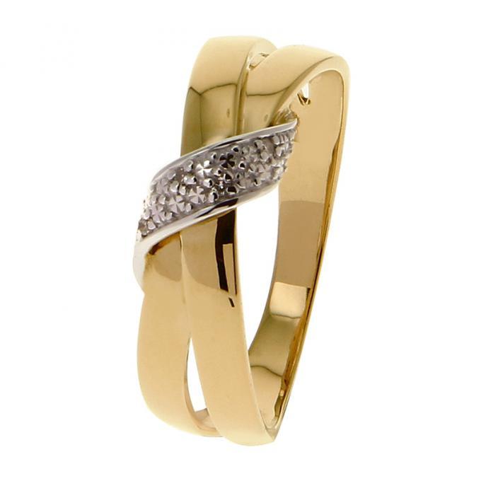 vente chaude en ligne 820ff 9c33f Bague Or jaune et blanc 375 Diamant 09ZP58BB4 Plus d'infos