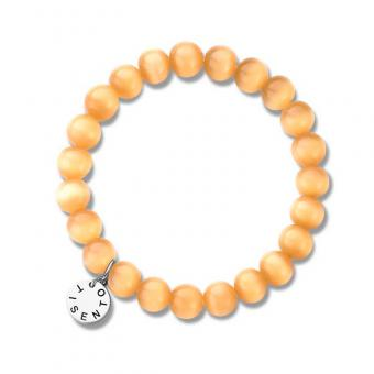 Ti Sento - Bracelet Cat's Eye Orange 8 mm 2610OR - Bracelet Ti Sento