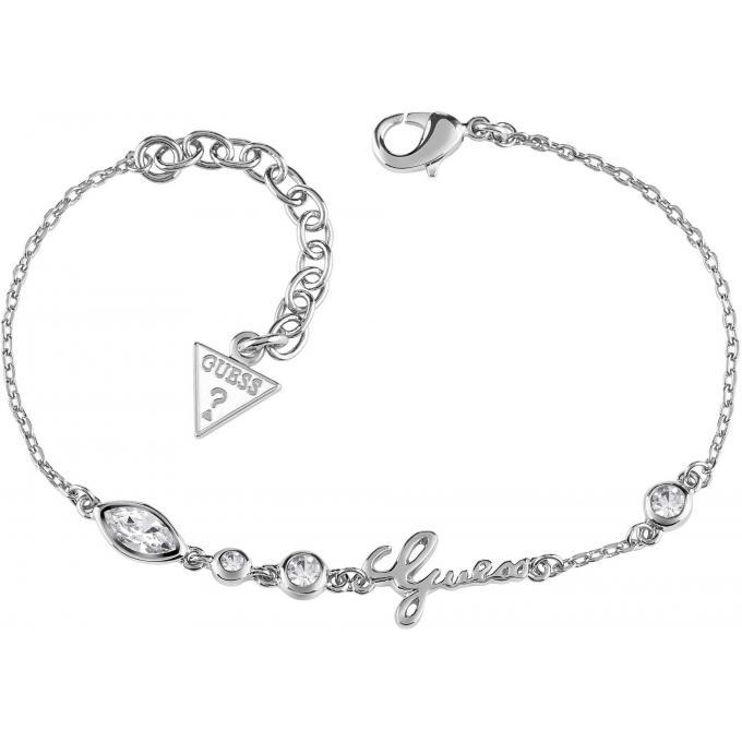Bracelet Guess UBB61022 - Bracelet Argent Logoté Femme sur Bijourama ... 30fe06a72b4