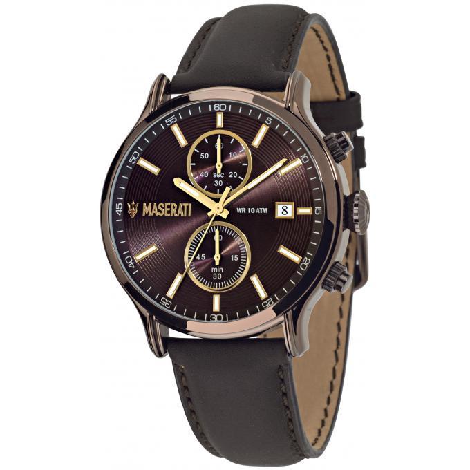 montre maserati epoca r8871618006 montre chronographe marron homme sur bijourama montre. Black Bedroom Furniture Sets. Home Design Ideas