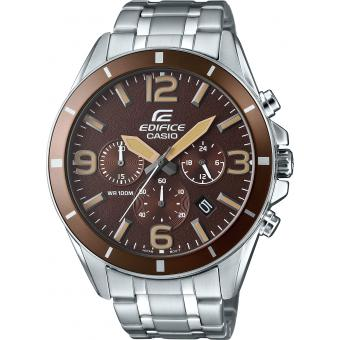 Montre Casio Edifice-Classic EFR-553D-5BVUEF - Montre Chronographe Marron Homme