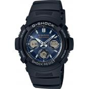 Montre Casio Solaire Bleue AWG-M100SB-2AER - Multifonctions
