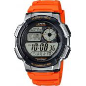 Montre Casio Orange Fuseaux AE-1000W-4BVEF