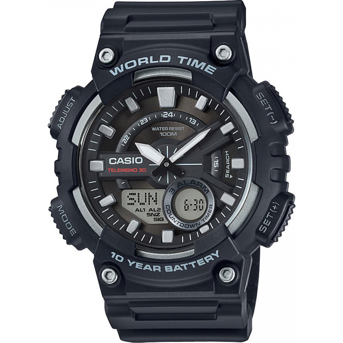 Montre Casio Collection AEQ-110W-1AVEF - Montre Décennale Grise Homme