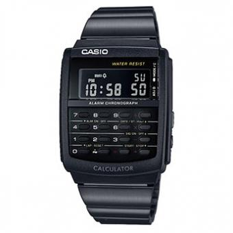 Montre Casio Collection CA-506B-1AEF - Montre Calculatrice Noire Homme
