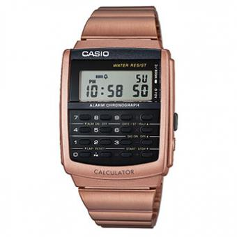 Montre Casio Collection CA-506C-5AEF - Montre Calculatrice Doré Rose Homme