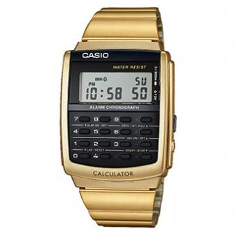 Montre Casio Collection CA-506G-9AEF - Montre Calculatrice Dorée Homme