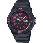 Montre Casio Index rose MRW-200H-4CVEF - Noir