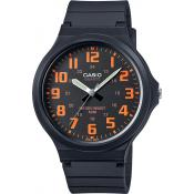 Montre Casio Collection MW-240-4BVEF - Montre Index oranges Homme