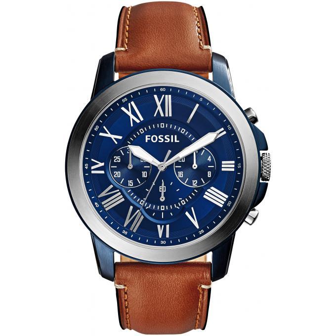 montre fossil grant fs5151 montre cadran bleu homme sur bijourama montre homme pas cher en ligne. Black Bedroom Furniture Sets. Home Design Ideas