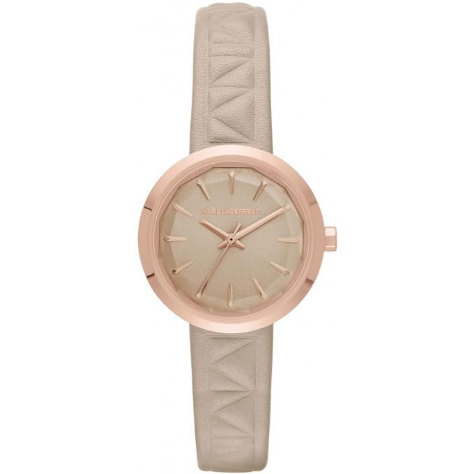 montre karl lagerfeld janelle kl1612 montre cuir gaufr blanc femme sur bijourama montre. Black Bedroom Furniture Sets. Home Design Ideas