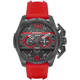 Montre Diesel Ironside DZ4388 - Montre Silicone Rouge Homme