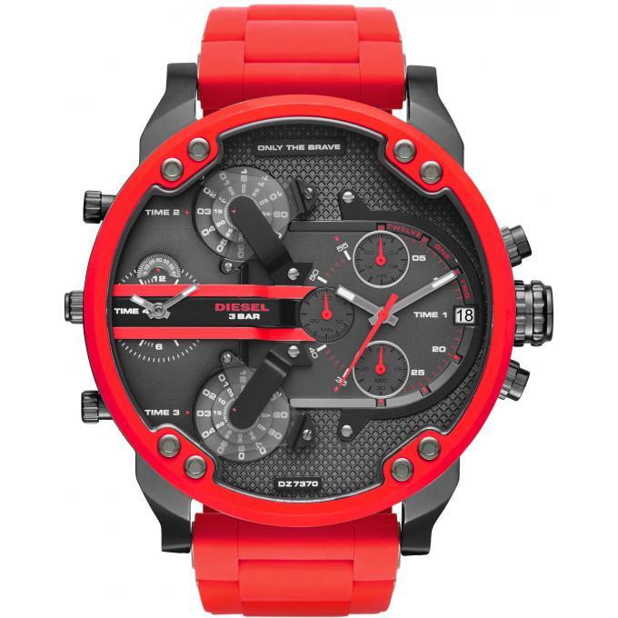 montre-diesel-rouge